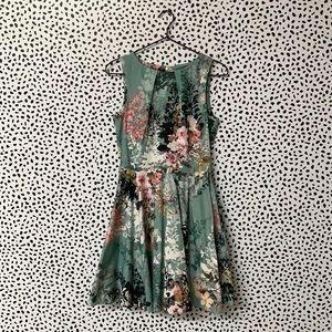 Closet Floral Fit & Flare Dress